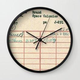 Library Card 797 Wall Clock