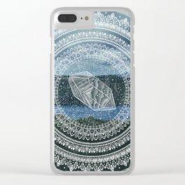Crystal Mandala - Lake Windermere Landscape Clear iPhone Case