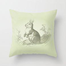 Bunny Rabbit {soft sage green} Throw Pillow