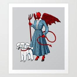 Devil With A Blue Dress On Art Print