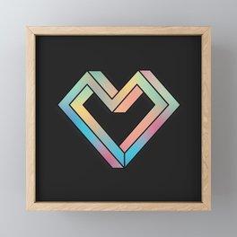 le coeur impossible (nº 4) Framed Mini Art Print