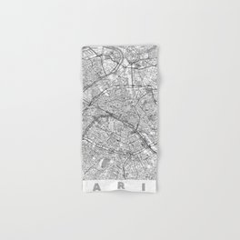 Paris Map Line Hand & Bath Towel