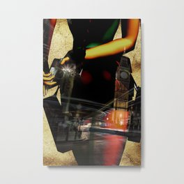 Lara Croft TR3-London Metal Print