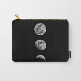 Phases of the Moon print black-white monochrome new lunar eclipse poster home bedroom wall decor Carry-All Pouch