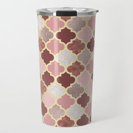 Warm rose gold moroccan Travel Mug