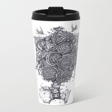 Ribs with peonies Metal Travel Mug