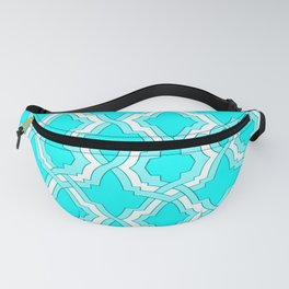 Grille No. 1 -- Cyan Fanny Pack