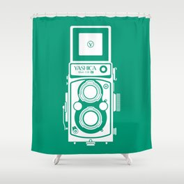 Yashica Mat 124G Camera Emerald Shower Curtain