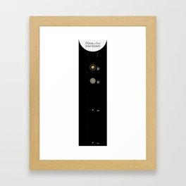 Planets of our Solar System Framed Art Print