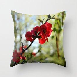 Bold Red Flower Throw Pillow