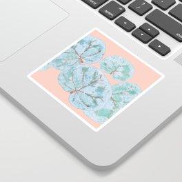 Tropical Sea Grape Leaves Sticker