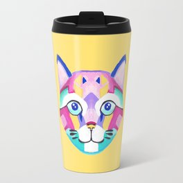 Geometric cat Travel Mug