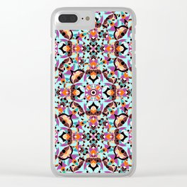 Flower mosaic Clear iPhone Case