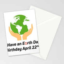 Earth Day Birthday April 22nd Stationery Cards