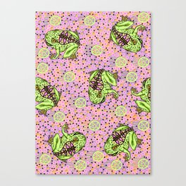 pentragram and frog Canvas Print
