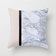 Modern minimalist blush marble Throw Pillow