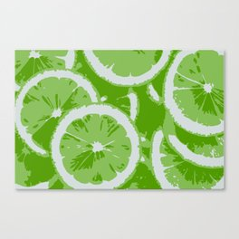 LIME ZING Canvas Print