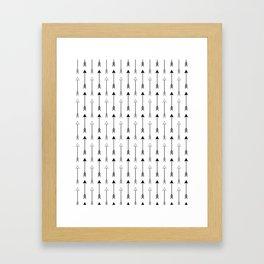 Black and White Arrows Pattern Framed Art Print