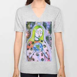 Galaxy Leaf Queen Unisex V-Neck