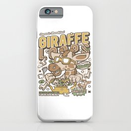 Girrafe Loopsfor animated characters comics and pop culture lovers iPhone Case
