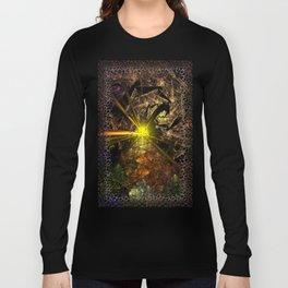 Machu Picchu 3D Fractal Long Sleeve T-shirt
