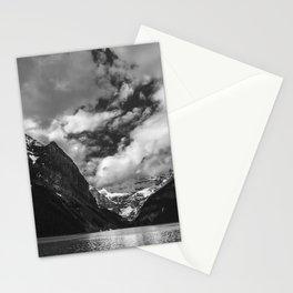 Lake Louise Black and White Minimalism Photography | Black and White | Photography Stationery Cards