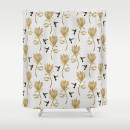Hummingbird U0026 Flower I Shower Curtain