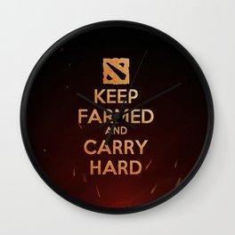 Keep Farmed & Carry Hard (DO-TA) Wall Clock