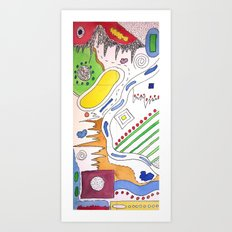 Line VS Color Art Print