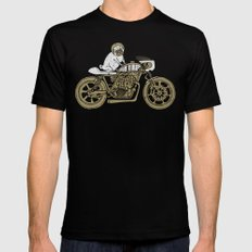Let's Ride LARGE Black Mens Fitted Tee