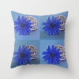 Still life with chicory flower Throw Pillow