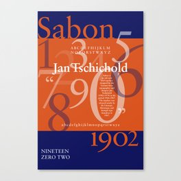 Sabon Typography Poster Canvas Print