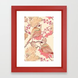 Happy Birds Framed Art Print