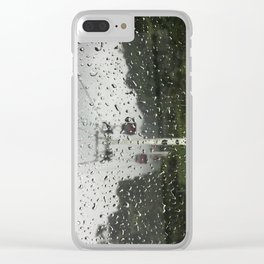 Raindrops on window Clear iPhone Case