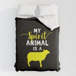 Spirit Animal Sheep Gifts Sheep Design Sheep Lovers Gifts Comforters