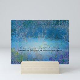 Serenity Prayer Blue Marsh Mini Art Print
