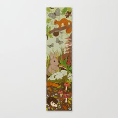 Woodland critters (coloured) Canvas Print