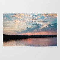 beaver Area & Throw Rugs featuring Sunrise over Beaver by Alyson Cornman Photography