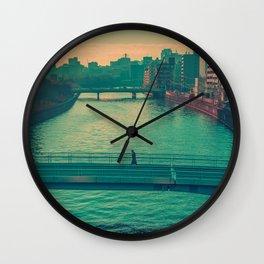 Osaka Lonely Bridge Wall Clock