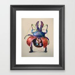 Beetle stunt Framed Art Print