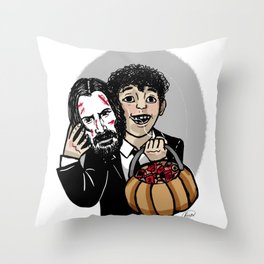 Wick or Treat! Throw Pillow