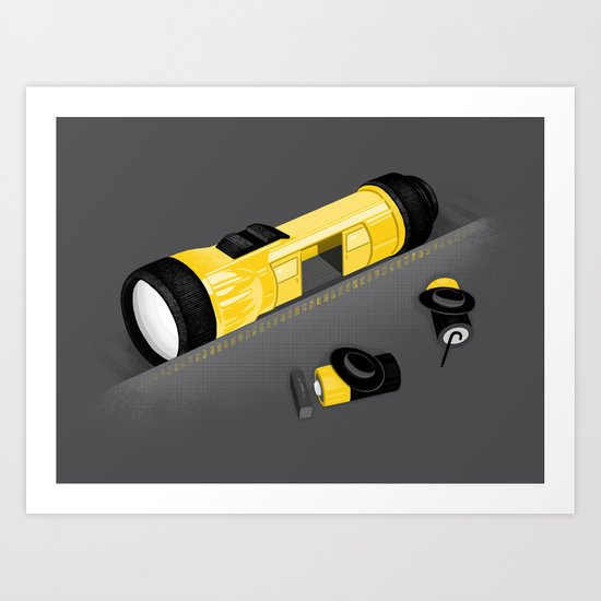 Traveling at the speed of light Art Print