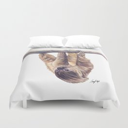 Wookie the Two-Toed Sloth Duvet Cover