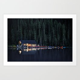 Night at Lake Louise Art Print