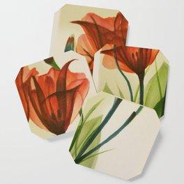 Glass Poppies Coaster