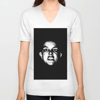 britney spears V-neck T-shirts featuring Bald Britney Spears  by Jessica Buie