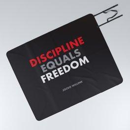 """Discipline Equals Freedom"" Jocko Willink Picnic Blanket"