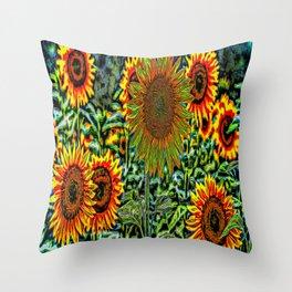 Sunflower Vibrance Throw Pillow