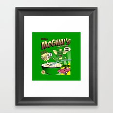 Mogwai's Breakfast the after midnight snak Framed Art Print