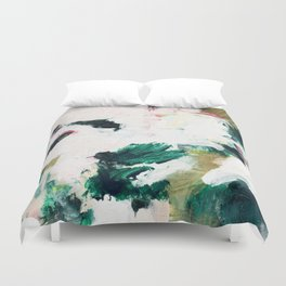 Floral Oil Abtract Duvet Cover